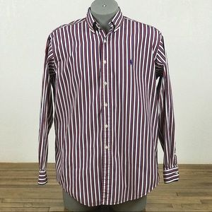 Vintage Ralph Lauren Dress Shirt Sz L Striped